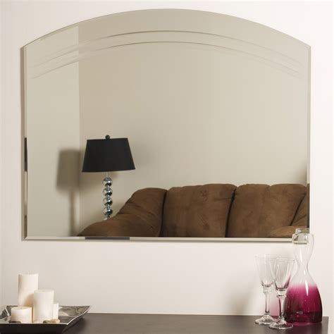 wall decor with mirrors decor large frameless wall mirror beyond stores
