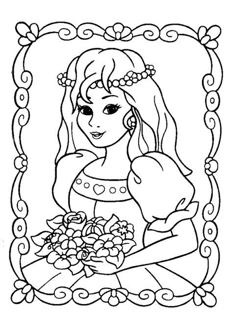jeu de cuisine pour filles coloriage princesse et bouquet de fleurs hugolescargot com