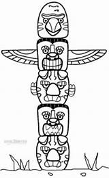 Totem Pole Coloring Poles Printable Malvorlagen Native American Craft Cool2bkids Totempfahl Template Indianer Indios Drawing Cowboy Colorare Printables Adults Tiki sketch template