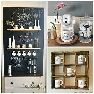 10, Diy, Farmhouse, Coffee, Bar, Ideas, For, Your, Kitchen
