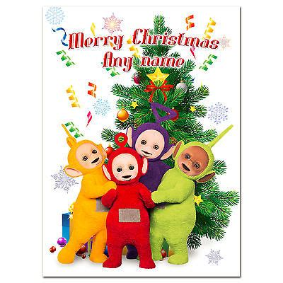 c 073 large personalised christmas card with any name
