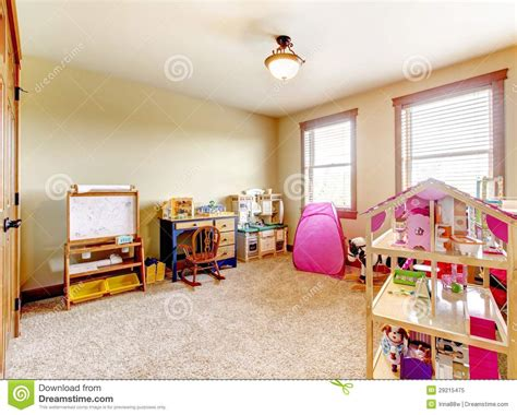 Kids Play Room With Toys. Interior. Royalty Free Stock