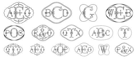 filigree monograms font  harolds fonts font bros