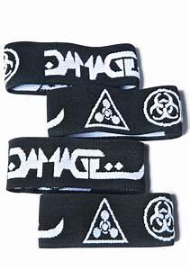 DAMAGE Logo Arm Band Set | Dolls Kill