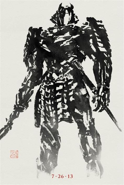 samurai wolverine silver poster japanese ink posters wash features promotional many