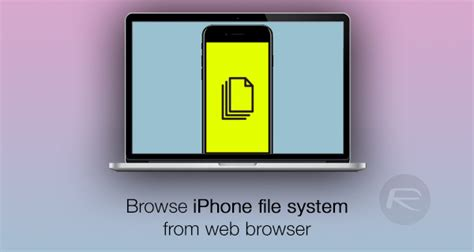 how to access web on iphone how to access iphone file system remotely from a web
