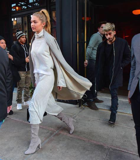 gigi zayn hadid malik heels weight height york january together apartment nyc put splash hunting dating were go jeans step