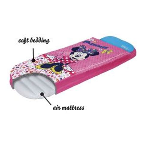 sleeping bag with air mattress disney minnie mouse ready bed no frozen sleeping bag