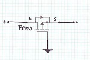 Reverse Voltage Protection With A P