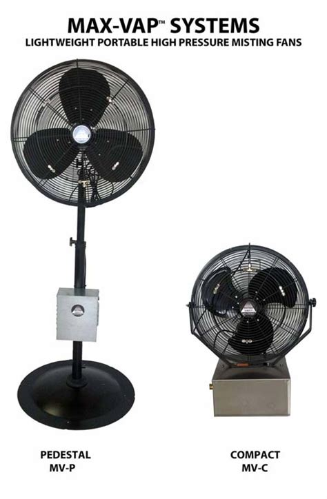Portable Patio Misting Fans by Max Vap High Pressure Portable Misting Fans