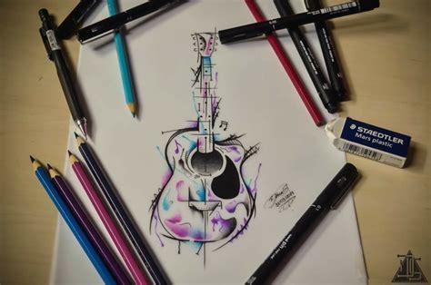 modele carrelage cuisine mural dessin tatouage à l aquarelle idées cool par les tatoués