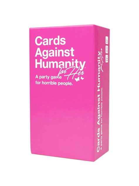 'cards Against Humanity For Her' Exactly The Same Game