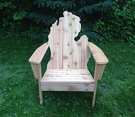 michigan shaped adirondack chair things