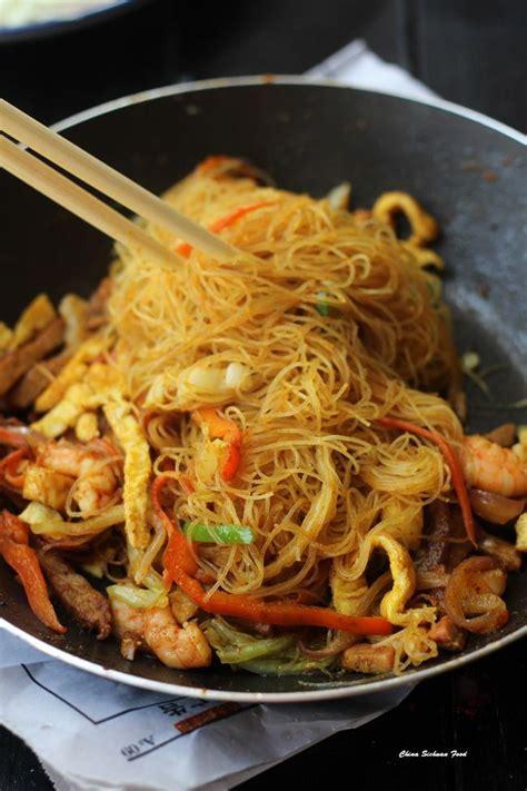singapore mei fun recipe shrimp stir fry napa cabbage  rice noodles