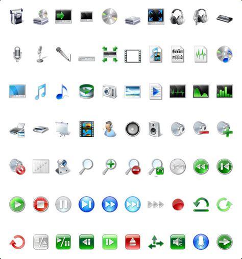 icon land vista style multimedia icon set with custom icon design