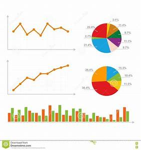 Charts  Statistics And Pie Diagram Stock Vector