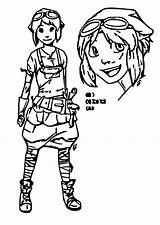 Character Coloring Saw Leaf Gerda Wecoloringpage Pages sketch template
