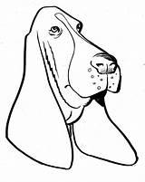 Printable Hound Coloring Bassett Basset Worksheet Catcher Dream Dog Mandala Stencil sketch template