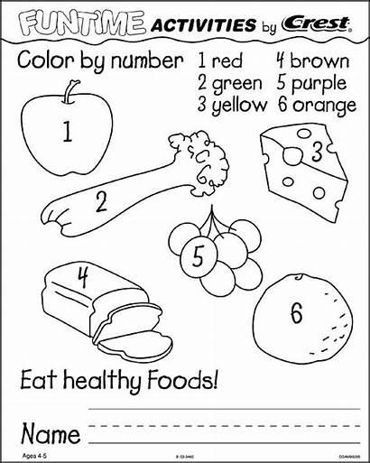 Dental Worksheets Health Printable Healthy Activities Number