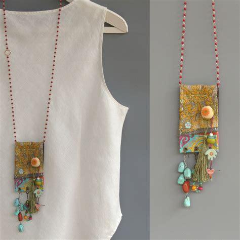 gypsy necklace hippie style festival jewelry ooak