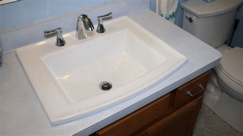 replacing  bathroom sink   kohler archer sink