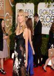 Heidi Klum Wears Marchesa Golden Globe Awards Red