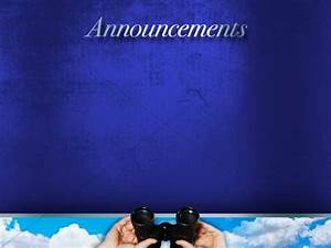 Church Announcements, Announcement Backgrounds ...