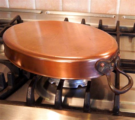 large quality oval farmhouse tin lined copper roasting pan twin steel handles large falk