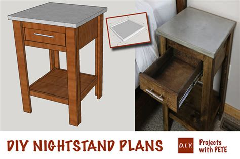 how to build a nightstand diy concrete and wood nightstand buildsomething