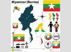 Map of Myanmar stock vector Illustration of country
