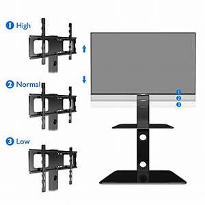 Support Tv 65 Pouces : 1home meuble tv support en verre piotant pour ecran plasma ~ Dailycaller-alerts.com Idées de Décoration