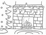Coloring Fireplace Drawing Fire Stocking Chimney Sheets Tree Colouring Stockings Drawings Fireplaces Activities Bookmark Colorings Navidad Dibujos Ornament Imageslist Paintingvalley sketch template
