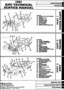 1981 Amc Repair Shop Manual Original  Eagle Spirit Concord