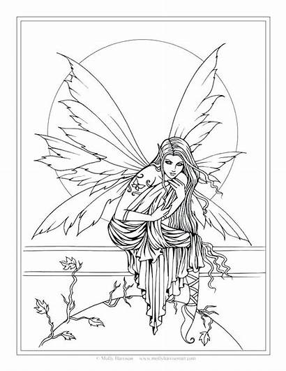 Coloring Fantasy Pages Fairy Molly Fairies Magic