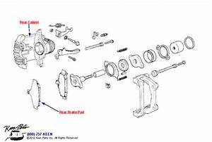 1953-2018 Corvette Rear Brake Caliper Parts