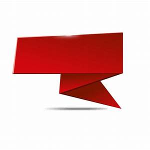 Red origami folded banner - Transparent PNG & SVG vector