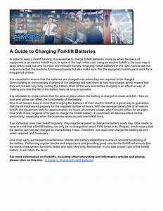 A Guide To Charging Forklift Batteries