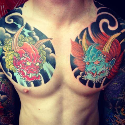 japanese chest plates  adam craft  tattooed heart