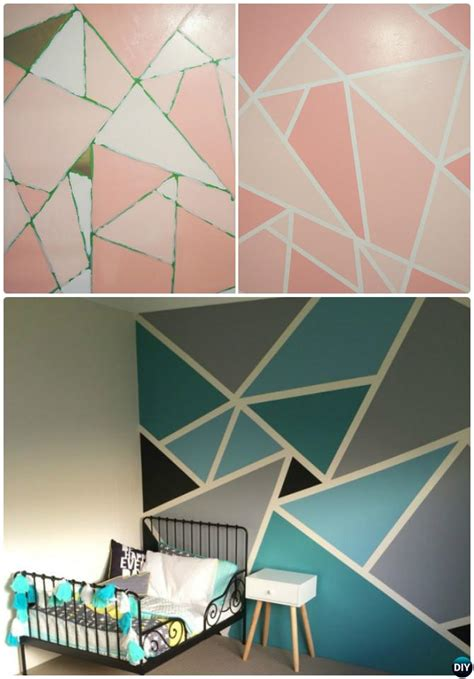 diy patterned wall painting ideas  techniques picture