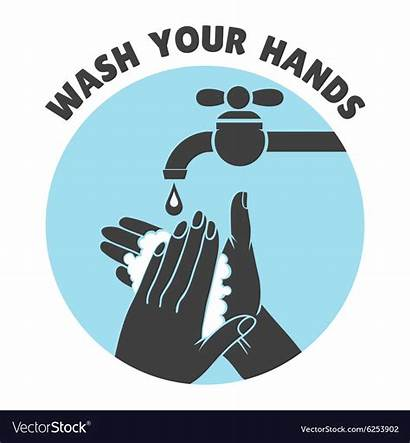 Wash Washing Hands Hand Symbol Vector Safe