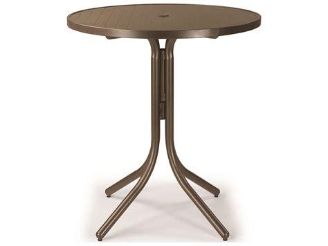 table with umbrella hole telescope casual aluminum slat top 36 39 39 round bar height