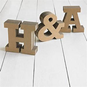 chunky cardboard letters by letterfest With chunky letters