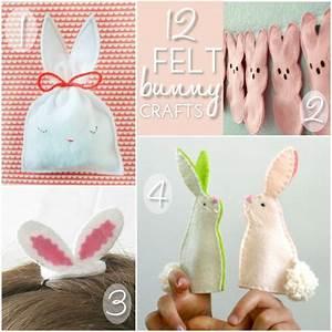 12 Felt Bunny Crafts Blissfully Domestic