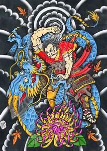 Samurai against dragon by dfmurcia on DeviantArt