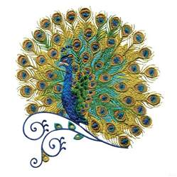 embroidery designs swnpa131 peacock embroidery design