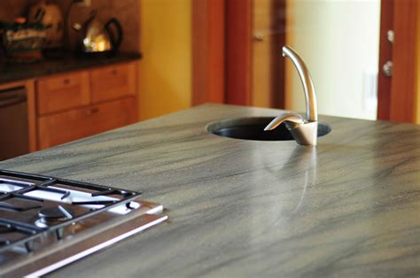 honed granite counter top kitchen portland by julie