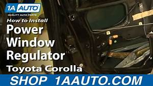 How To Install Replace Power Window Regulator Toyota Corolla 98-02 1aauto Com