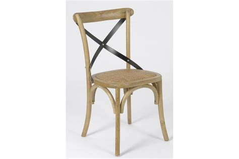 chaise bistrot metal chaise croisillon en bois massif bistrot hellin