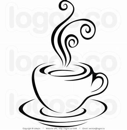 Drawing Teacup Line Cup Tea Fancy Steam