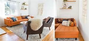 la fabrique a deco un canape orange deco vintage With tapis d entrée avec home salon canapé d angle